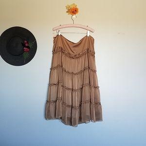 NY&CO Tiered Chiffon Skirt